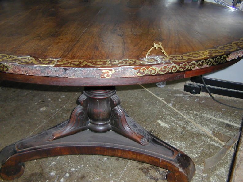 Copy of brass banded table