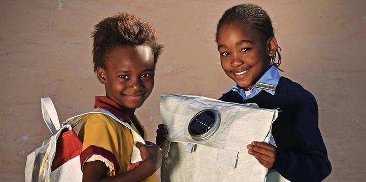 Solar Backpacks Light Up Africa