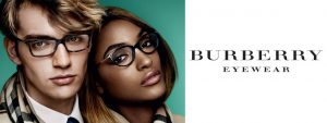 Man and woman wearing Burberry eyeglasses