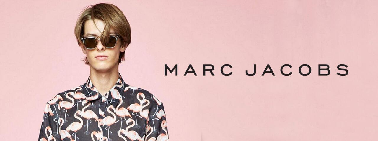 Man wearing Marc Jacobs eyewear