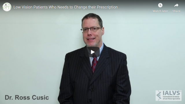 Screenshot 2019 07 19 Low Vision Patients Who Needs to Change their Prescription YouTube