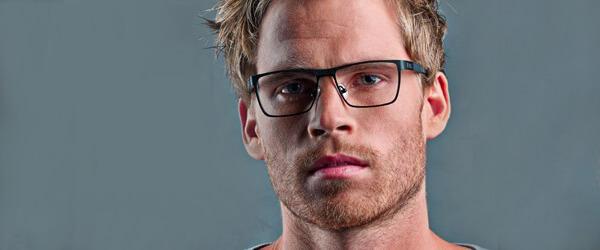 Man Wearing Oga Designer Eyeglass Frames