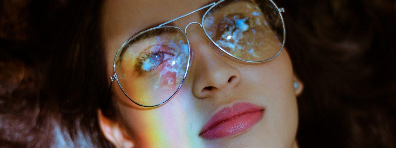 Optometrist, painted woman face in Old Bridge, NJ
