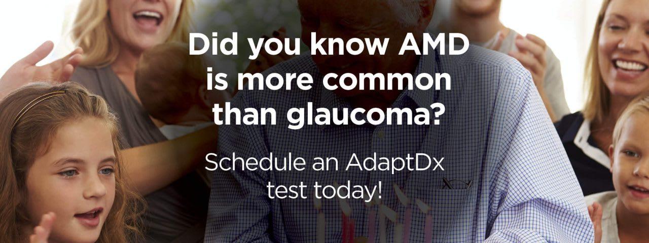 AdaptDX Macular Degeneration Awareness for Patients AMD - Schedule an eye test today