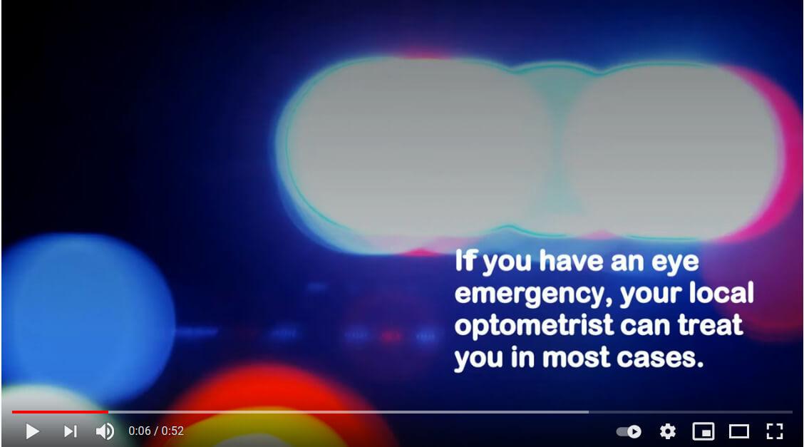 eye emergency video