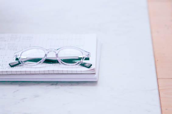 cta for grand pavillion glasses on desk