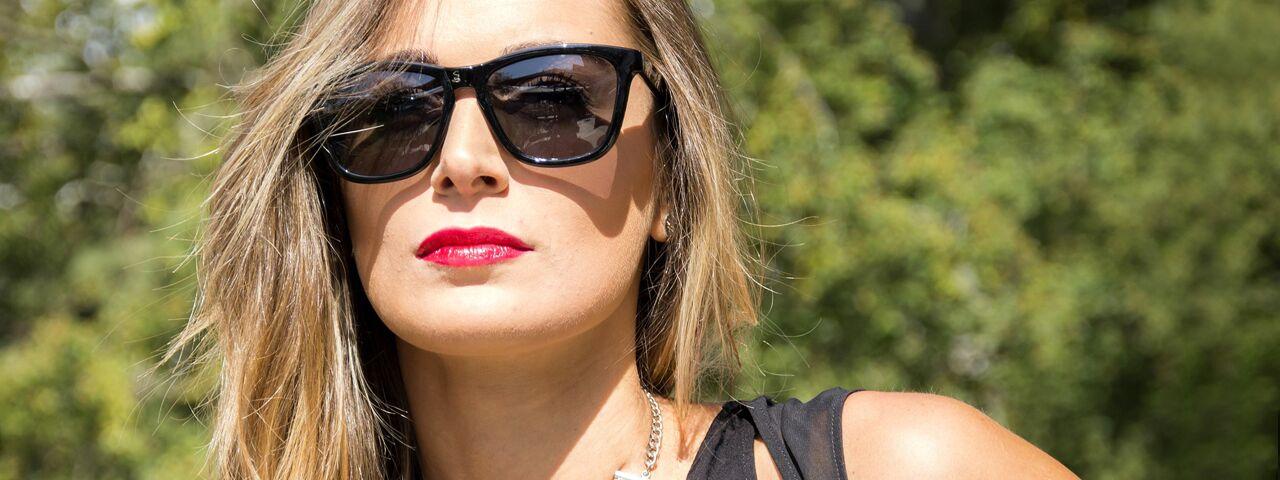 Woman wearing sunglasses, Eye Care in Columbus, Ohio
