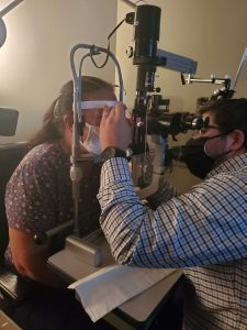 Our Optometrist treating dry eyes in Columbus, Ohio