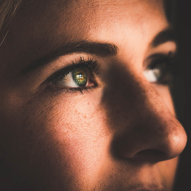 Lady with green eyes, Eye Care in Austin, TX