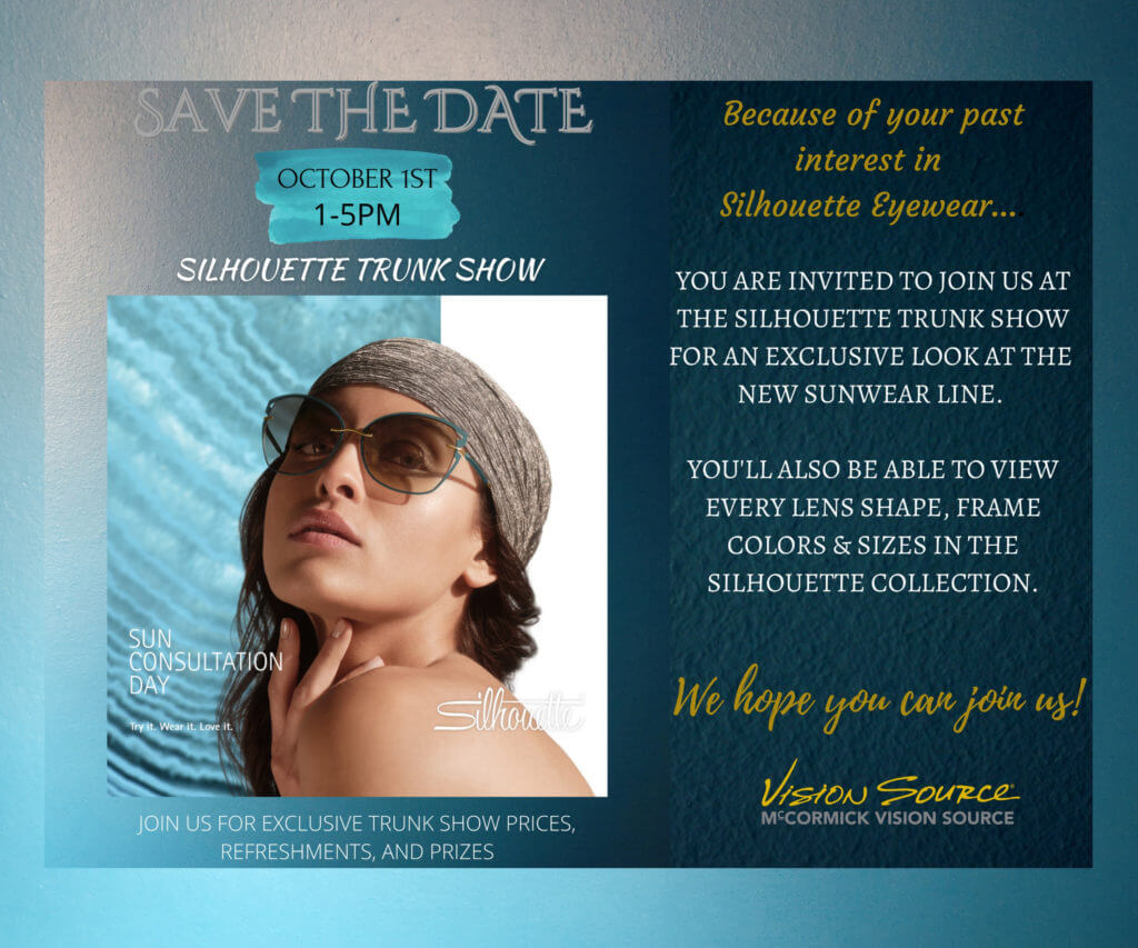 Save the date, sale flyer