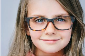 Girl wearing glasses in Burnsville, MN