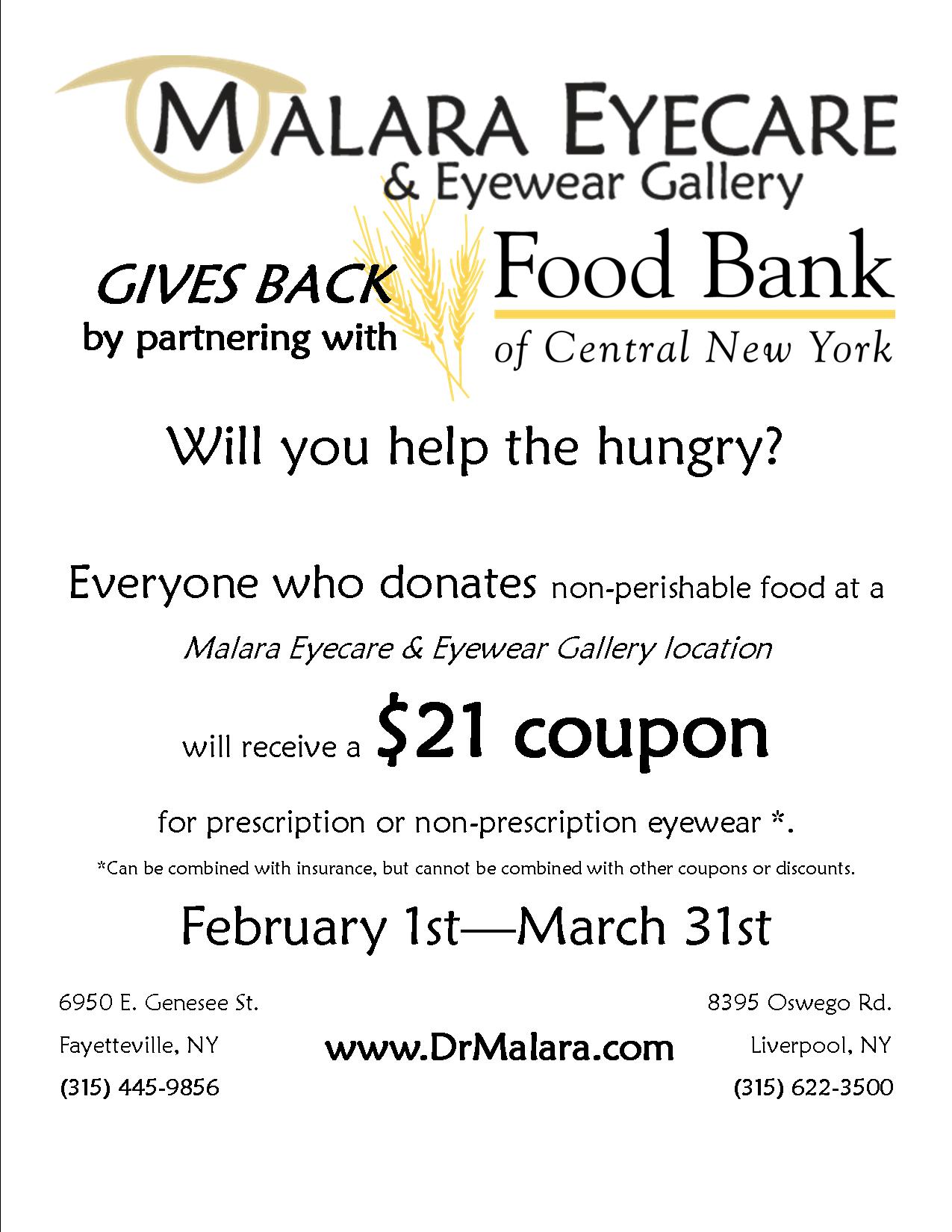 Food bank promotion 2021
