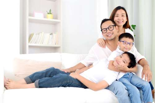 family ethnic 4 people 01