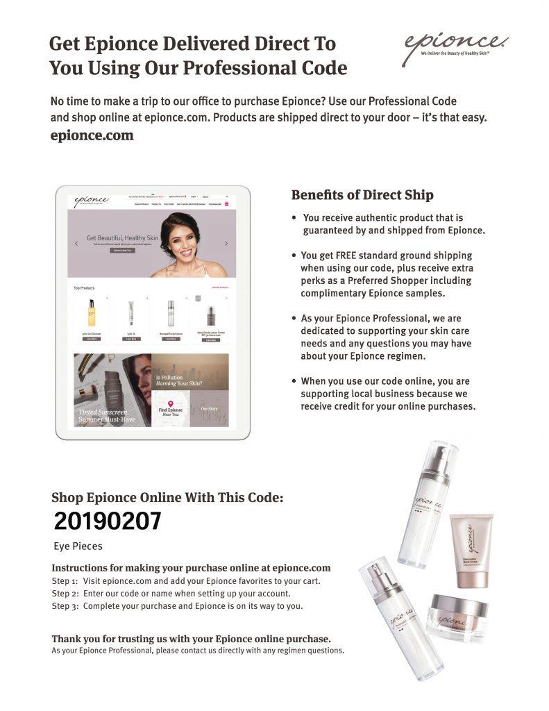 Eye Pieces Shop Epionce Info Sheet page 001