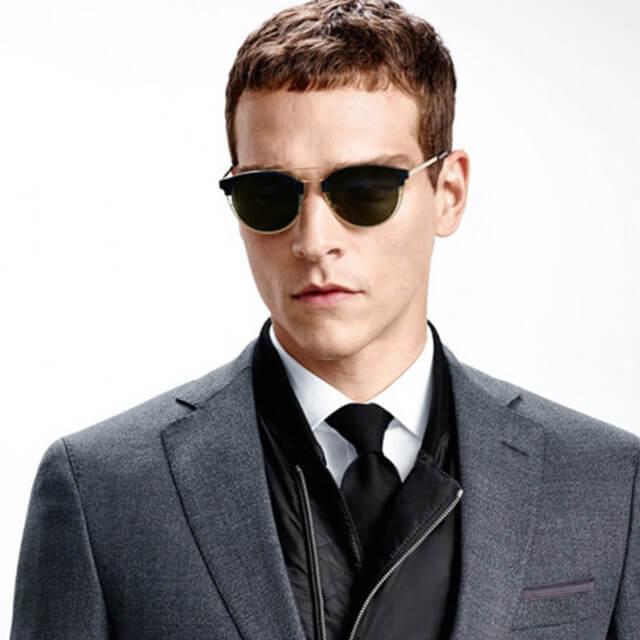 hugo boss men glasses stylish