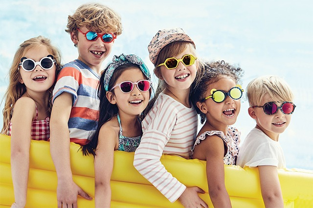 Eye doctor, kids wearing sunglasses in Cedar Park, TX