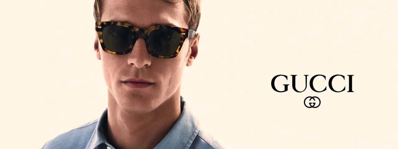 Eye doctor, man wearing Gucci sunglasses in Glassboro, NJ