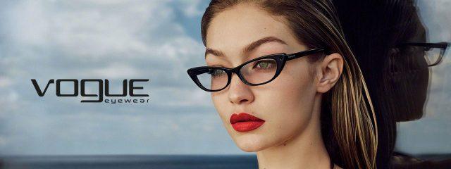 Eye doctor, woman wearing Vogue eyeglasses in Glassboro, NJ