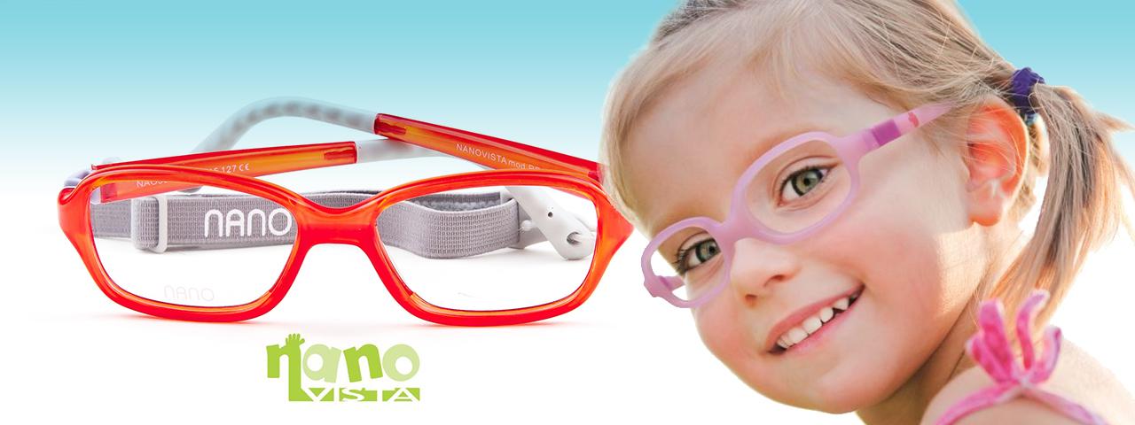 Child wearing Nano Vista eyeglasses, Eye Care in Lantana, FL