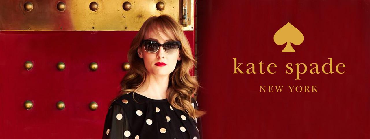 Woman wearing Kate Spade eyeglasses, Eye Care in Lantana, FL