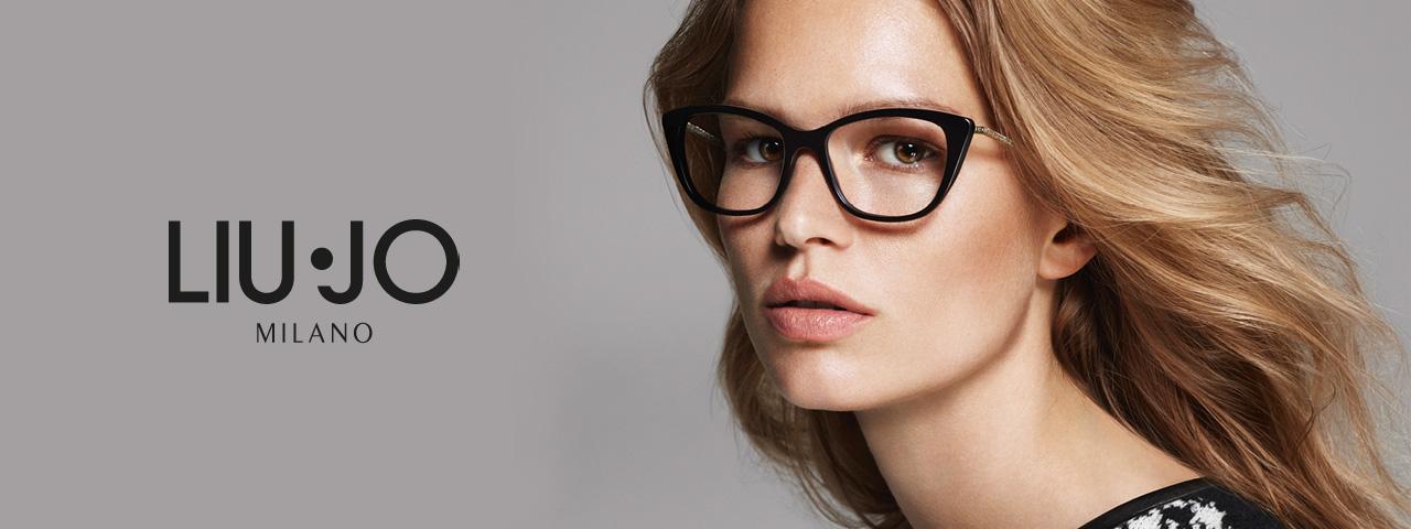 Woman wearing Liu Jo eyeglasses, Eye Care in Lantana, FL
