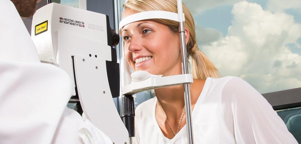 Eye Exam using Heidelberg technology in Frisco, CO