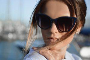 Woman wearing Designer eyewear in Brooklyn, NY