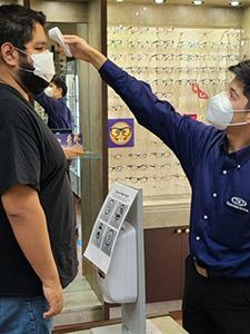 eye doctor check temperature
