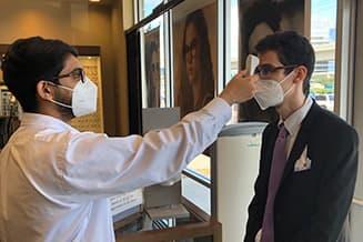 covid safe eye doctor