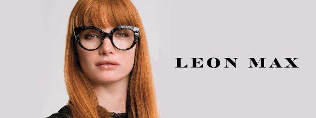 Eye doctor, woman wearing Leon Max eyeglasses in Milton, ON
