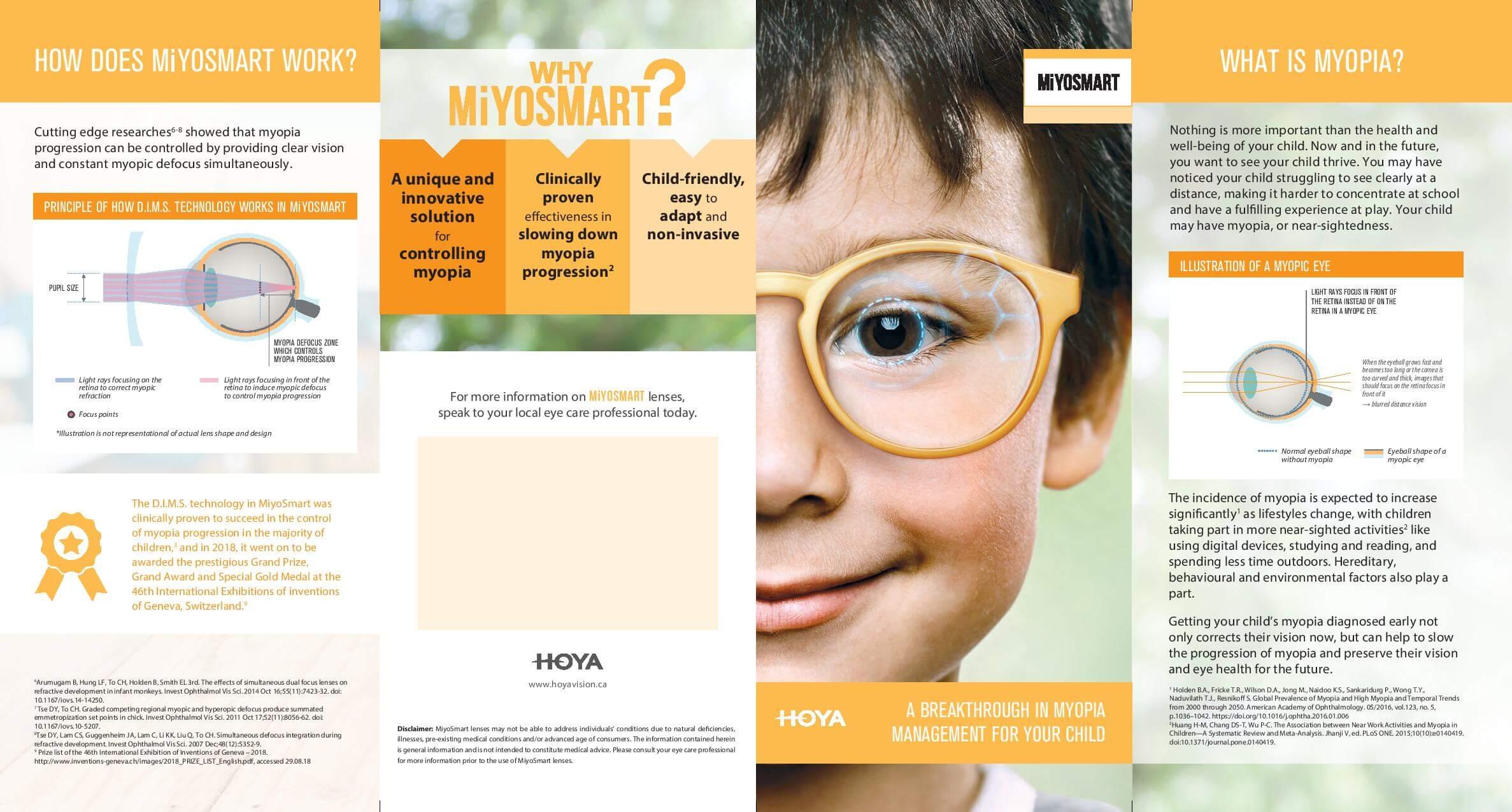 Hoya MiyoSmart Patient Brochure - Nearsightedness in Milton, Ontario
