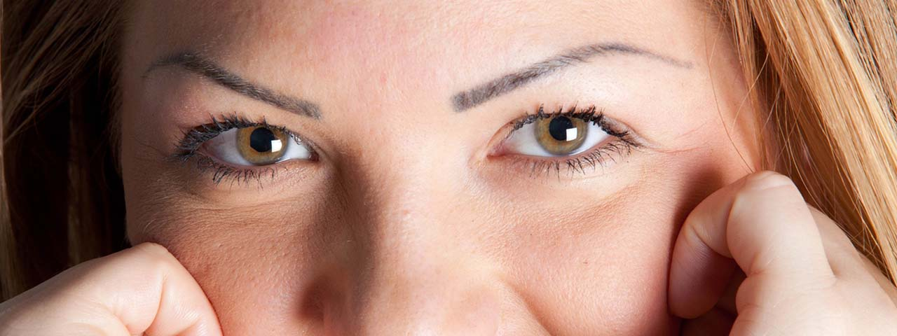 Woman's eyes wearing contact lenses at Milton Eye Care