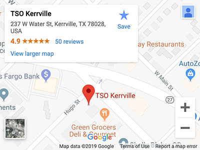 tso kerrville directions map