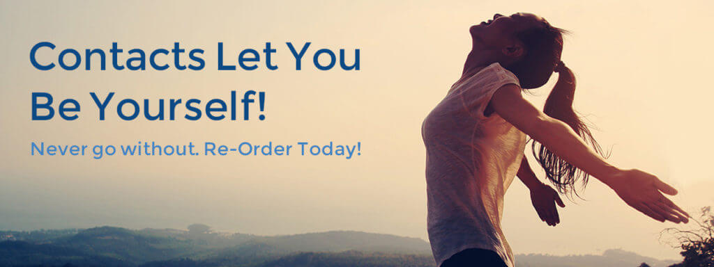 Contacts let you be yourself banner