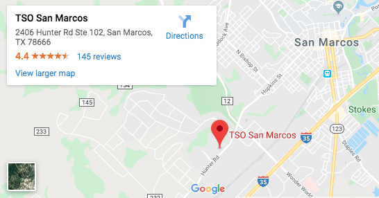 TSO San Marcos   Family Eye Doctor & Eye Exams   Call Now San Marcus Texas Map on 123 san marcos texas map, prospect park san marcos map, downtown san marcos tx map, float the river san marcos tx map, austin city map, blanco river san marcos tx map,
