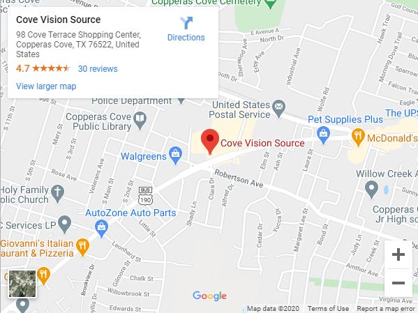 Cove Vision Source Google Maps