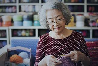 Lifestyle of a senior Asian woman