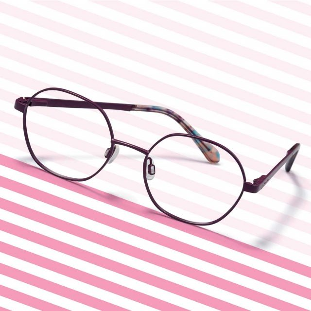 Draper James Glasses on a Pink Striped Background 640x640