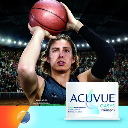NEW ACUVUE OASYS with Transitions Basketball