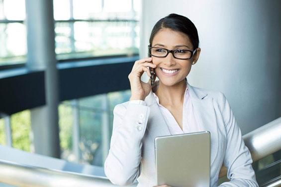 glasses business woman technology