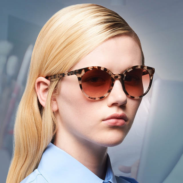 prada teen girl sunglasses