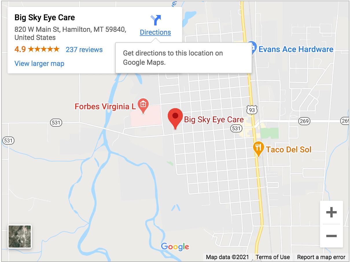 Your eye care clinic in Hamilton - Big Sky Eye Care