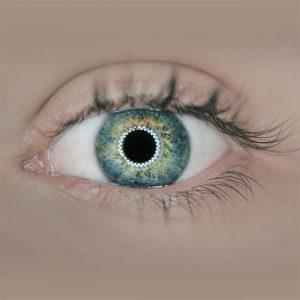 beautiful colorful eye in San Francisco, CA,