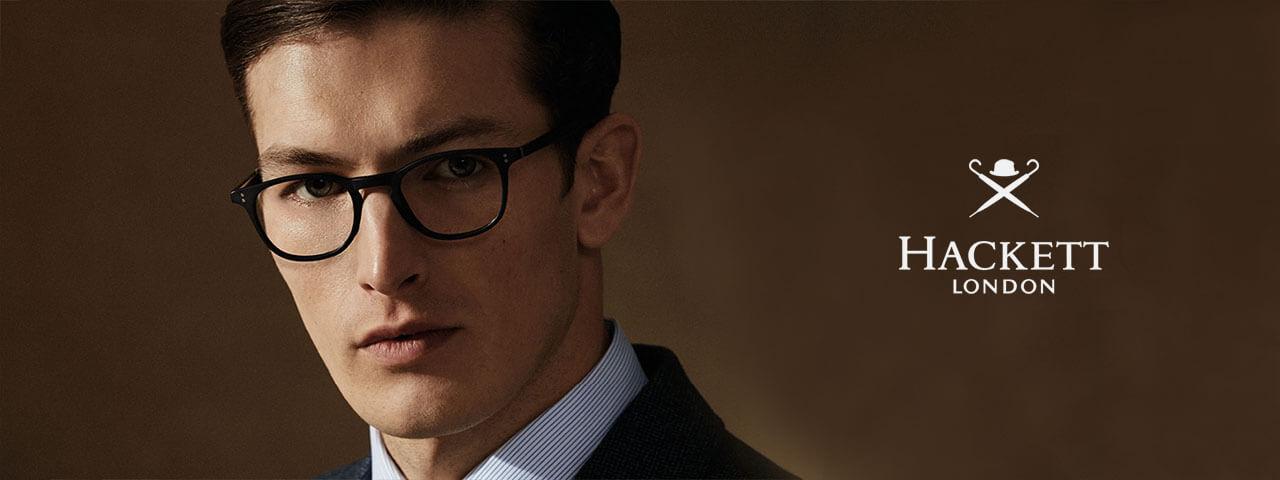 Man wearing designer eyeglasses