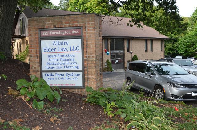 Outside signage for Della Porta Eye Care