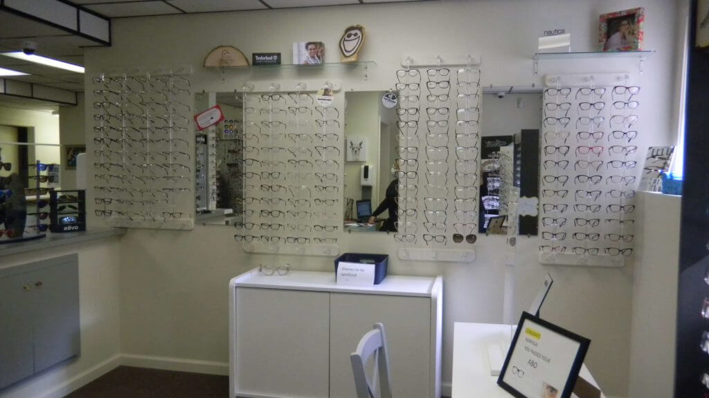 Optical Section at Della Porta Eye Care