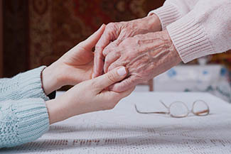holding hands comfort thumbnail