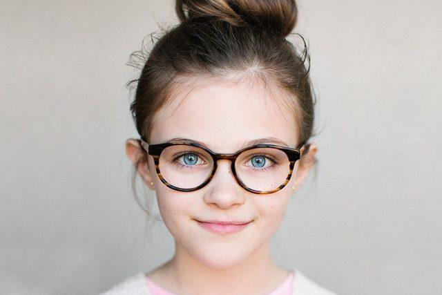 Girl wearing eyeglasses