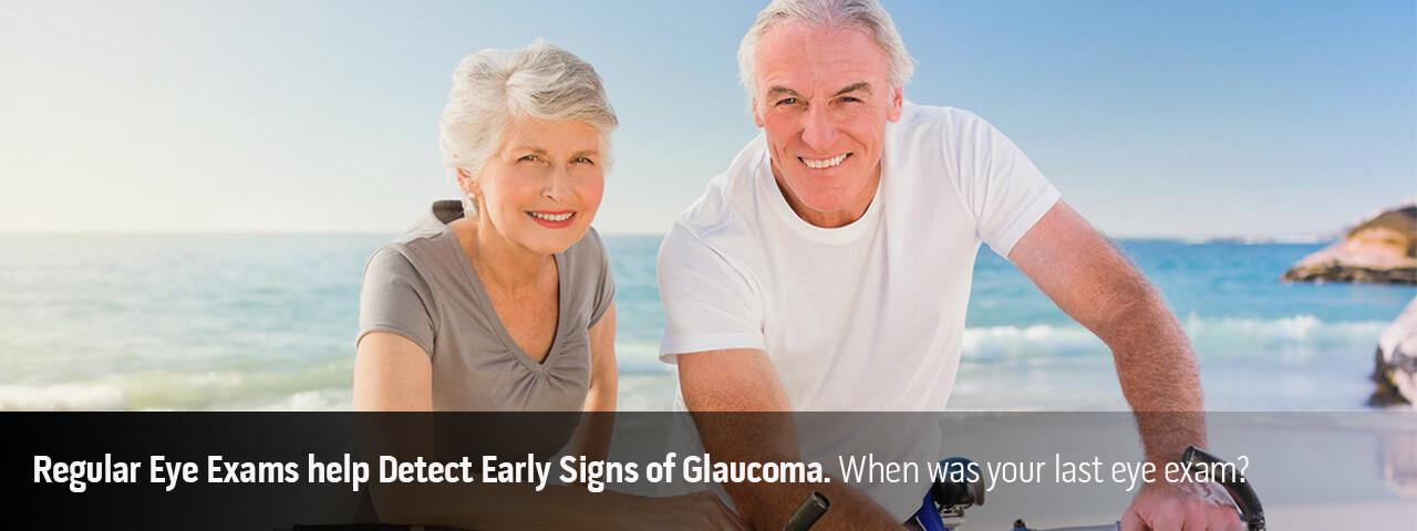 Elderly couple in Glaucoma exam ad