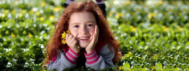 eye care, Girl Smiling Grass Flower in Belmont North Carolina